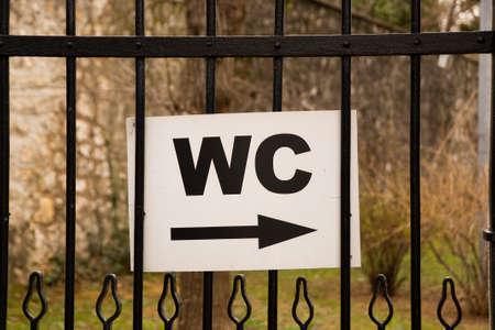 toilet sign photo photo