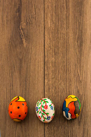 hand painted traditional Easter Eggs photo
