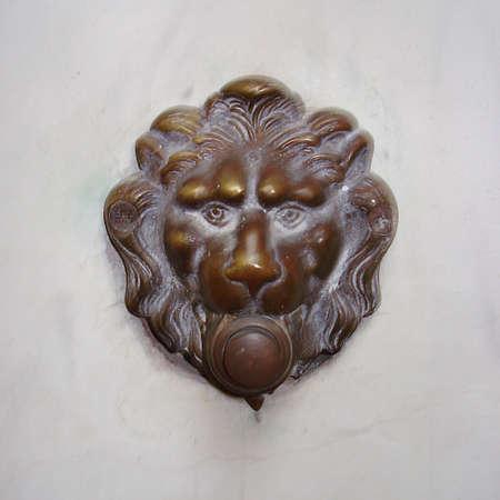 venezia: antique Italian doorbell, antique doorbell in Venezia, Italy Stock Photo