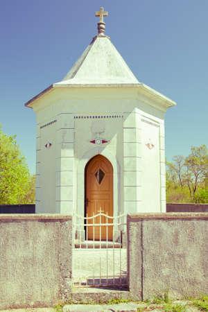 croatian: croatian small chapel vintage stayle Stock Photo