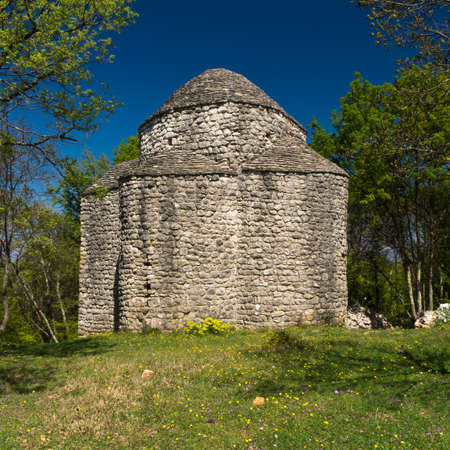 krk: Croatian small chapel on the island of Krk