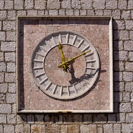 krk: Krk old clock  Croatia Stock Photo