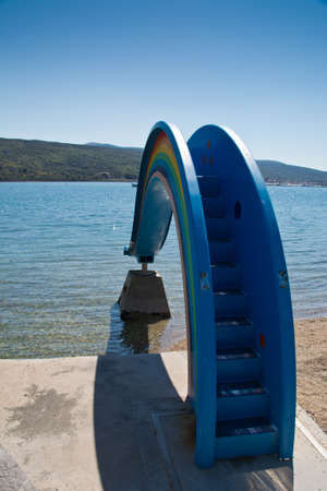 krk: rainbow water slide in Krk Croatia