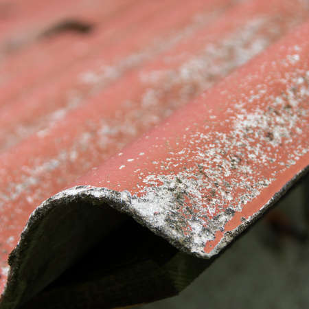 asbestos: roofing cement and asbestos Stock Photo