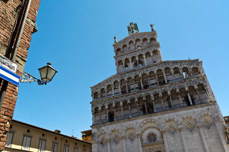 lucca: Church of San Michele Lucca landmarkTuscany Italy