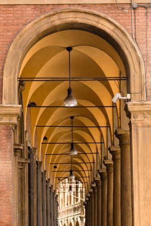 bologna: famous porticos in Bologna, Italy Stock Photo