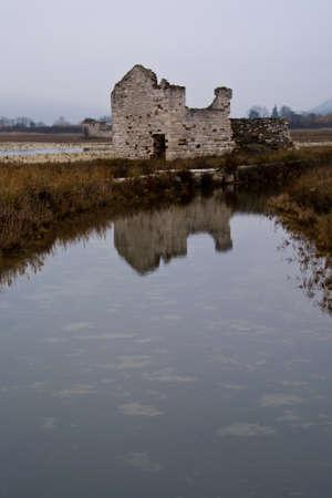 salina: Abandoned house in the Salina park,  Slovenia , Europe
