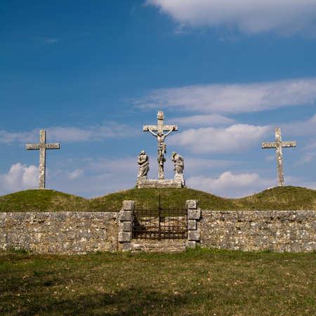 calvary: Calvary crucifixion sculpture in Istria, Croatia