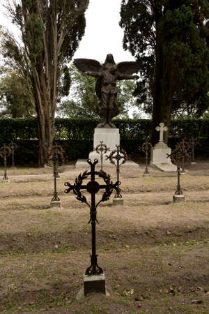 military cemetery: iron crosses in the military cemetery of Aquileia, Italy