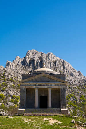 Chapel of St. Francis on Tulove Grede , part of the Dinaric Alps , Croatia