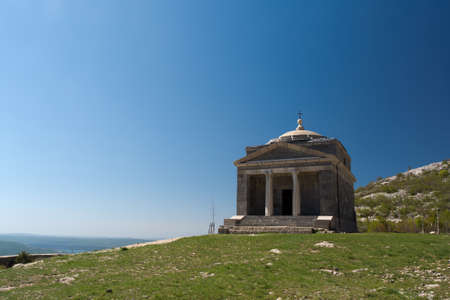 alan: Chapel of St. Francis on Tulove Grede , part of the Dinaric Alps , Croatia
