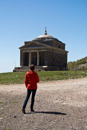 st francis: Chapel of St. Francis on Tulove Grede , part of the Dinaric Alps , Croatia
