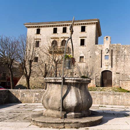 aquifer: medieval water well in Svetvincenat , Croatia Editorial