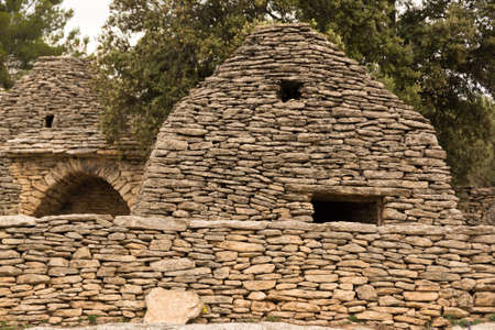 Stone huts in Provence