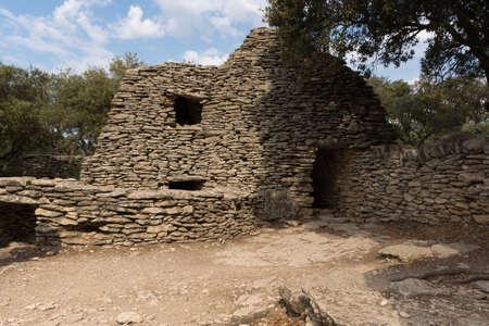 gordes: Stone huts in the Bories Village near Gordes, France Stock Photo