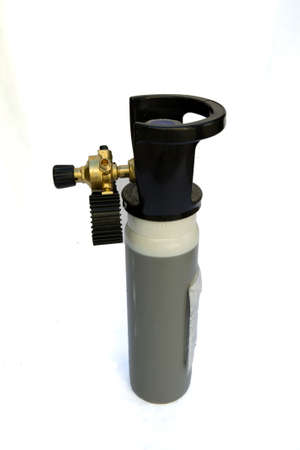 Carbon Dioxide gas cylinder Isolated with Clipping Path