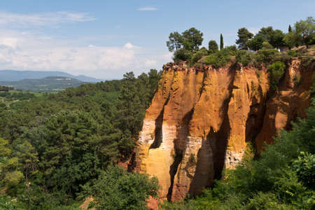 ochre: Ochre Mines at Roussilion, Provence, France
