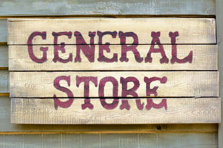 A general store wood sign
