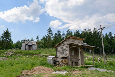 Wild west movie set ,North of Fuzine , Croatia
