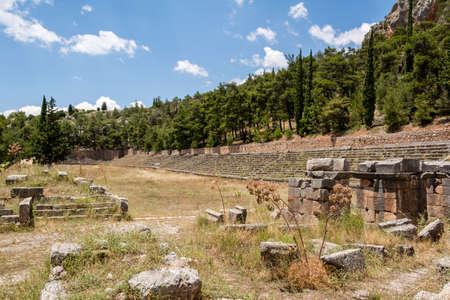 Ancient stadium at Delfi , Greece