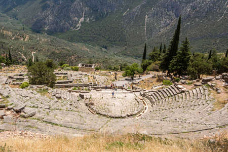 Ancient Theatre in Delfi , Greece