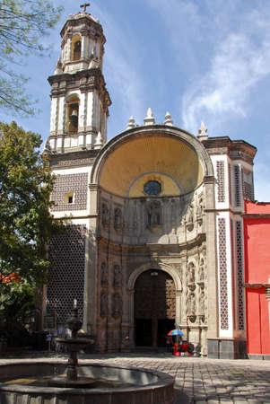 pictoresque: Santa veracruz Church in downtown Mexico City