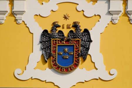 city coat of arms: city of Lima?s coat of arms,Lima Peru Stock Photo