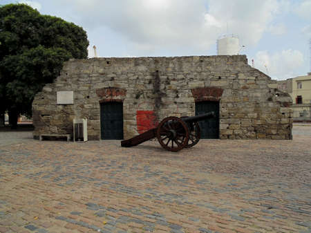 remnants: Remnants of the city wall, Montevideo,Uruguay