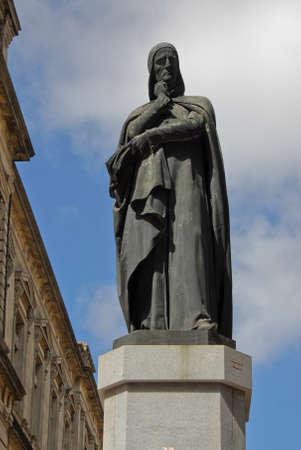 montevideo: Dante Alighieri statue in  Montevideo