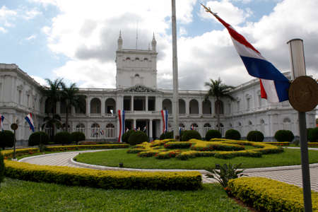 land locked: Presidential palace in Asuncion, Paraguay