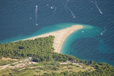 Vista dalla Vidova Gora sull'isola di Brac in Croazia Archivio Fotografico
