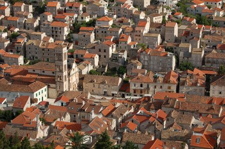 starigrad: View on town of Hvar in Croatia