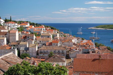 View from Spanish castle on Hvar island in Croatia photo