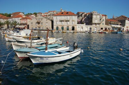 brac: Milna on Brac island Stock Photo