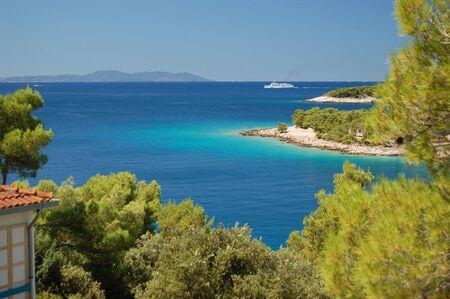 Quiet bay near Milna on Brac island in Croatia photo