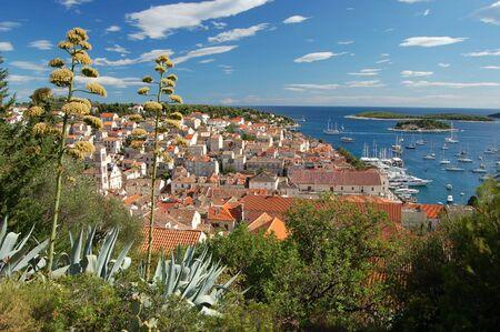 starigrad: Town of Hvar in Croatia Stock Photo