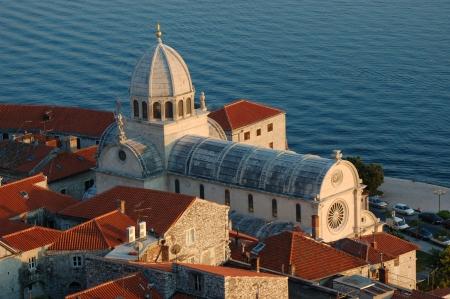 Gothic St. James Cathedral in Sibenik in Kroatien Lizenzfreie Bilder
