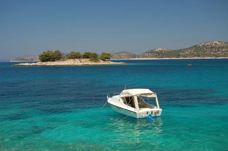 Quiet bay nearby Sibenik in Croatia
