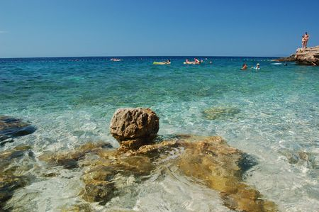 starigrad: Beach of Ivan Dolac on Hvar island in Croatia