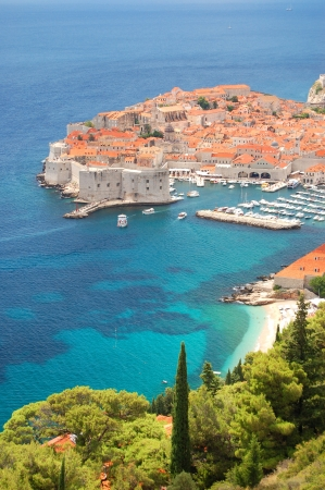 Spectacular view on the old town of Dubrovnik, Croatia 免版税图像