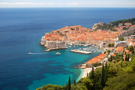 Spectacular view on the old town of Dubrovnik, Croatia Stock Photo