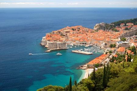 Spektakul�re Aussicht auf die Altstadt von Dubrovnik, Kroatien