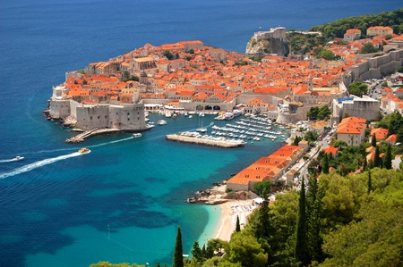 Picturesque view on the old town of Dubrovnik, Croatia photo