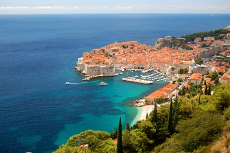 Spectacular view on the old town of Dubrovnik, Croatia Banque d'images