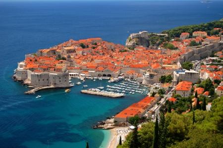 Suggestiva vista sulla citt? vecchia di Dubrovnik, Croazia