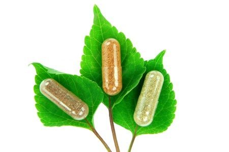 capsule a base di erbe a foglie di salvia Archivio Fotografico