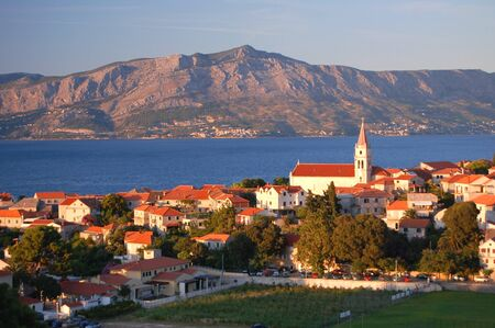brac: Gorgeous scenic view on village Postira on Brac island, Croatia