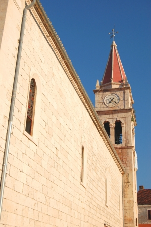 Church in Postira on Brac island, Croatia photo