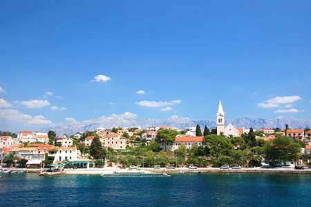 brac: gorgeous picturesque village sumartin on brac island, croatia