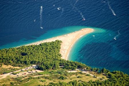 Splendida vista spettacolare dalla Vidova Gora su Golden Capo sull'isola di Brac in Croazia